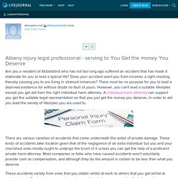 Albany injury legal professional - serving to You Get the money You Deserve: albanypersonal