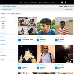 Professional and 3D Animators Portfolios, India
