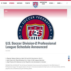 Soccer Division-2 Professional League Schedule Announced