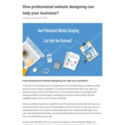 How professional website designing can help your business? - Appkineticsllc