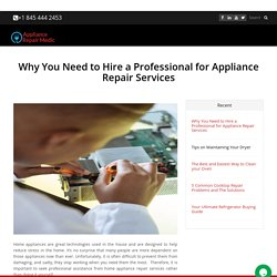 Why You Need to Hire a Professional for Appliance Repair Services