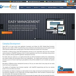 Professional Cakephp Web Application Development Services Online
