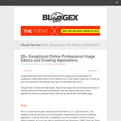 20+ Exceptional Online Professional Image Editors and Drawing Applications