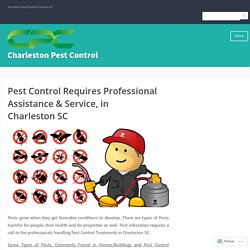Pest Control Requires Professional Assistance & Service, in Charleston SC – Charleston Pest Control
