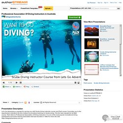 Professional Association of Diving Instructors in Australia