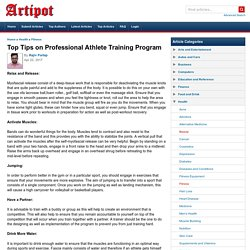 Top Tips on Professional Athlete Training Program