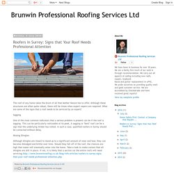 Brunwin Professional Roofing Services Ltd: Roofers in Surrey: Signs that Your Roof Needs Professional Attention