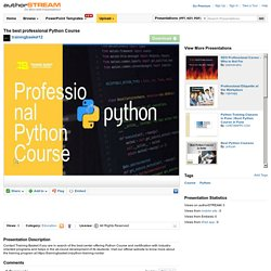 The Best Professional Python Course