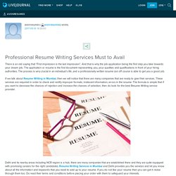 Professional Resume Writing Services Must to Avail: avonresumes