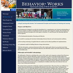 LLA Professional Course: Overview - BehaviorWorks.org