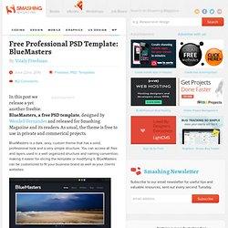 Free Professional PSD Template: BlueMasters - Smashing Magazine