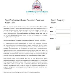 Top professional job oriented courses after 12th