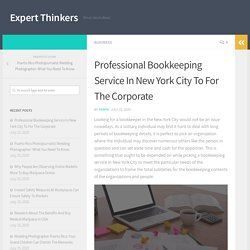 Professional Bookkeeping Service In New York City To For The Corporate