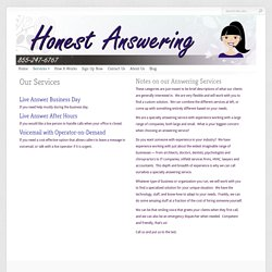 Specialty Answering Service Offered by Honest Answering