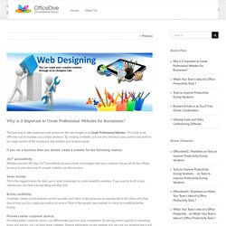 Why is it Important to Create Professional Websites for Businesses?-OfficeDive, LLC