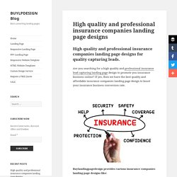 Download professional insurance companies landing page design