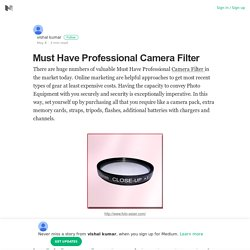 Must Have Professional Camera Filter From Foto-asian