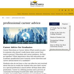 professional career advice - The Daily Campus