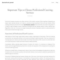 Important Tips to Choose Professional Catering Services