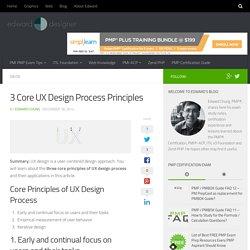 3 Core UX Design Process Principles - Professional Development- PMP Certification, ITIL v3, Zend PHP