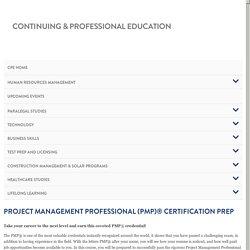 Project Management Professional (PMP) Certification Prep