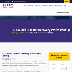 Disaster Recovery Professional Certification , EDRP Certification