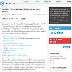 12 Steps to Creating a Professional Web Design