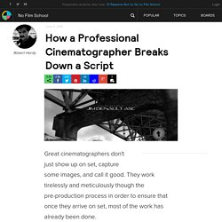 How a Professional Cinematographer Breaks Down a Script