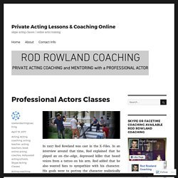 Professional Actors Classes