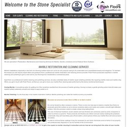 Marble - Professional Stone and Tiled Floor Cleaning Company In UK