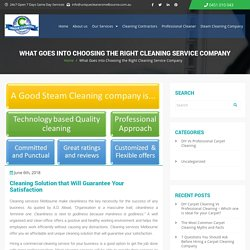 How to Choose the Right Professional Cleaning Company