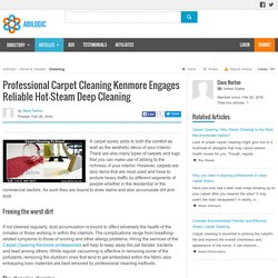 Professional Carpet Cleaning Kenmore Engages Reliable Hot-Steam Deep Cleaning