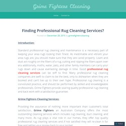 Top Quality Professional Rug Cleaning Services in Australia