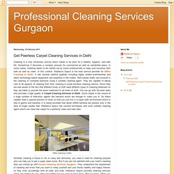 Professional Cleaning Services Gurgaon: Get Peerless Carpet Cleaning Services in Delhi