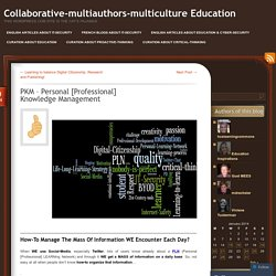 Collaborative-multiauthors-multiculture Education
