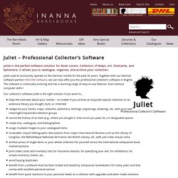 Inanna Rare Books: Juliet – Professional Collector's Software