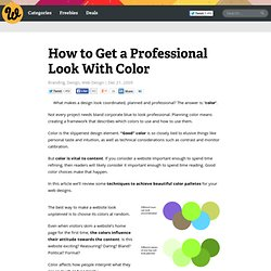 How to Get a Professional Look With Color
