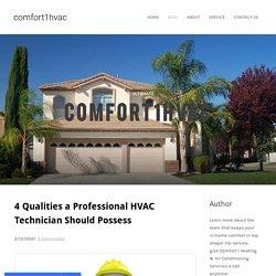 Professional HVAC Technician - comfort1hvac