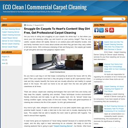 Snuggle On Carpets To Heart's Content! Stay Dirt Free, Get Professional Carpet Cleaning