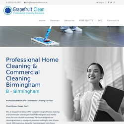 Professional Home Cleaning & Commercial Cleaning Birmingham