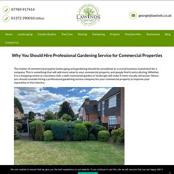 Hire Professional Gardening Service for Commercial Properties