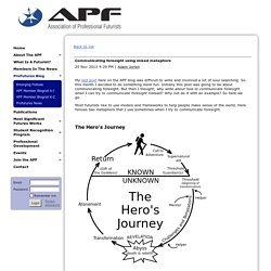 Association of Professional Futurists - Communicating foresight using mixed metaphors