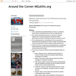 MyNotes: Best Practices for Professional Learning Communities