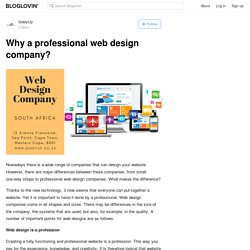 Why a professional web design company?