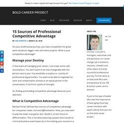 15 Sources of Professional Competitive Advantage
