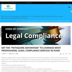 "Get the ""Paysquare Advantage"" to Leverage Most Professional Legal Compliance Services in Pune! - Paysquare"