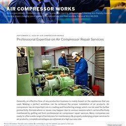 Professional Expertise on Air Compressor Repair Services
