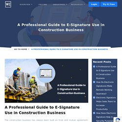 Professional Guide to E-Signature Use Construction Business