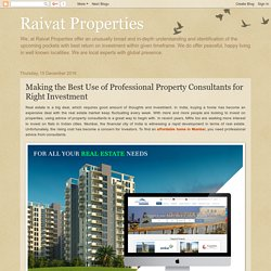 Buy Affordable Homes with help of Right Property Consultants