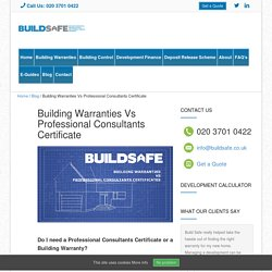 Building Warranties Vs Professional Consultants Certificate